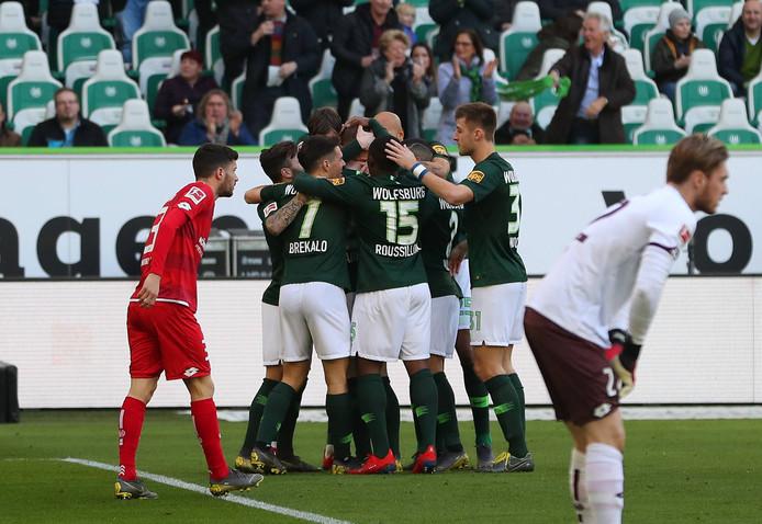 Feest bij Wolfsburg na de 1-0