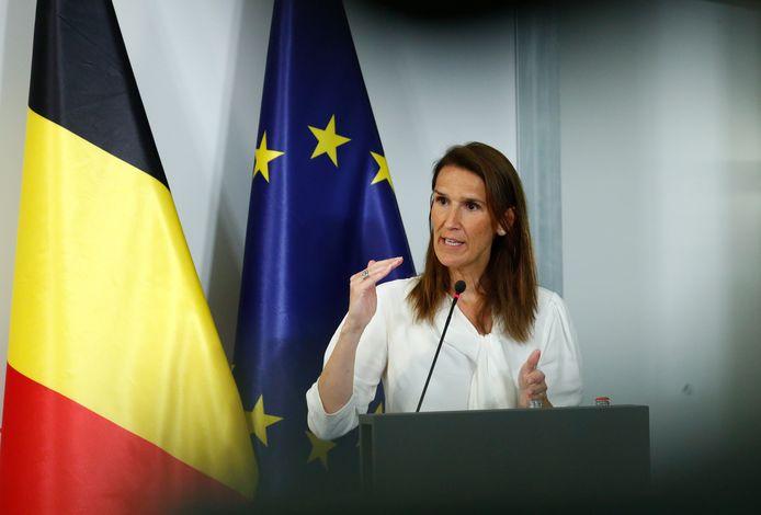 La Première ministre Sophie Wilmès (MR).