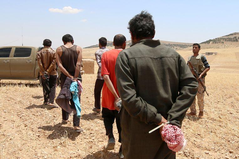 IS-gevangenen in Syrië (archiefbeeld).