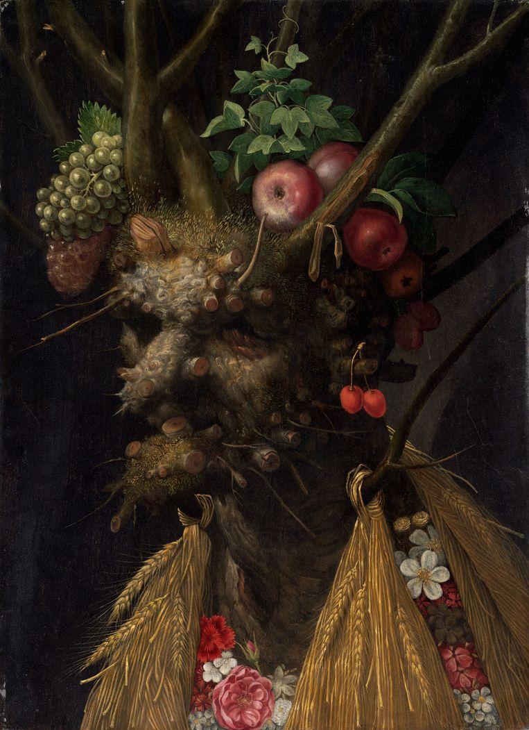 Vier seizoenen in een gezicht (ca. 1590) van Giuseppe Arcimboldo. Beeld National Gallery of Art