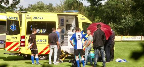 Voetballer gewond tijdens wedstrijd in Molenschot
