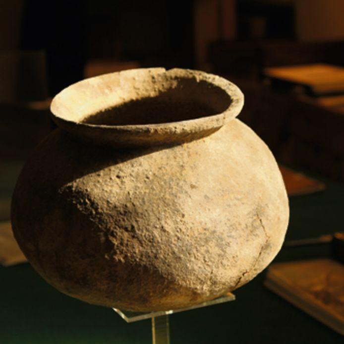 Een topstuk uit de collectie van museumboerderij Erve Hofman, een in Hellendoorn opgegraven kogelpot uit circa 900.
