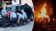 """Nieuwe beelden van arrestatie George Floyd tonen dat er drie agenten op stikkende man zaten. Trump noemt demonstranten """"uitschot"""""""