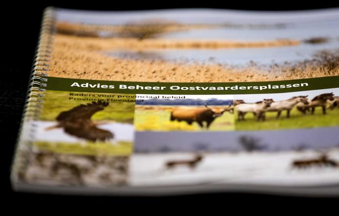 Het advies beheer Oostvaardersplassen voorafgaand aan een persconferentie waarin advies wordt uitgebracht over nieuw beleid voor het beheer van de grote grazers in de Oostvaardersplassen.