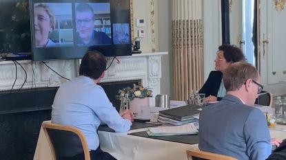 Vlaamse regering vergadert via video: Crevits en Somers vanuit quarantaine