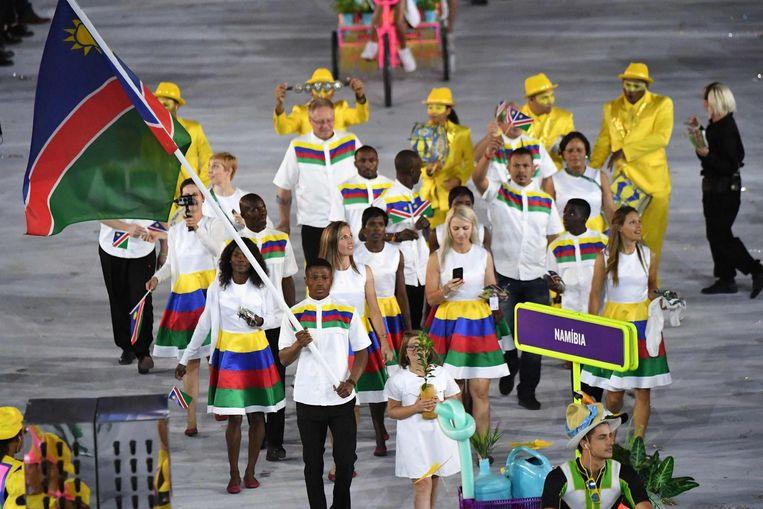 Tijdens de openingsceremonie was Jonas Junias Jonas vlaggendrager voor Namibië. Beeld null