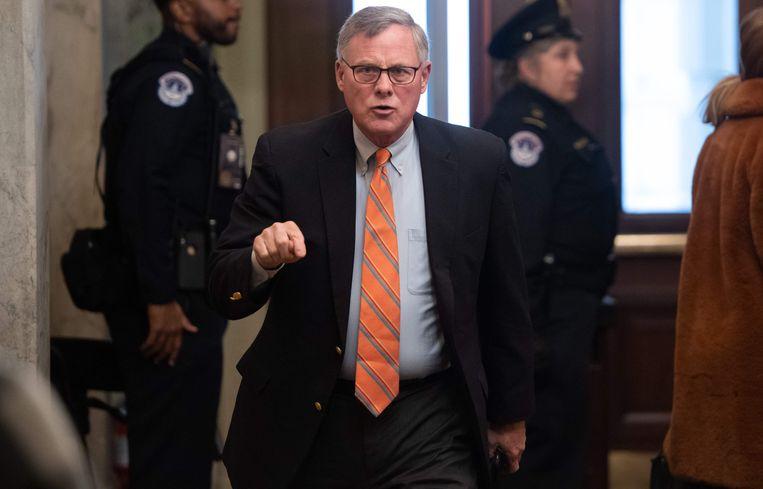 Republikein Richard Burr uit North Carolina werd als eerste betrapt. Beeld AFP