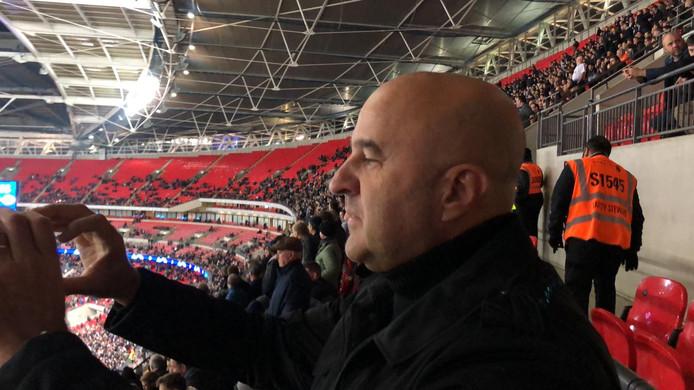 John van den Heuvel in Wembley 'toen alles nog goed was.'