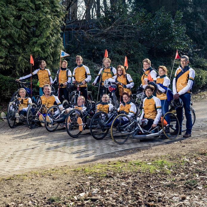 Het team voor de Handbikebattle 2018