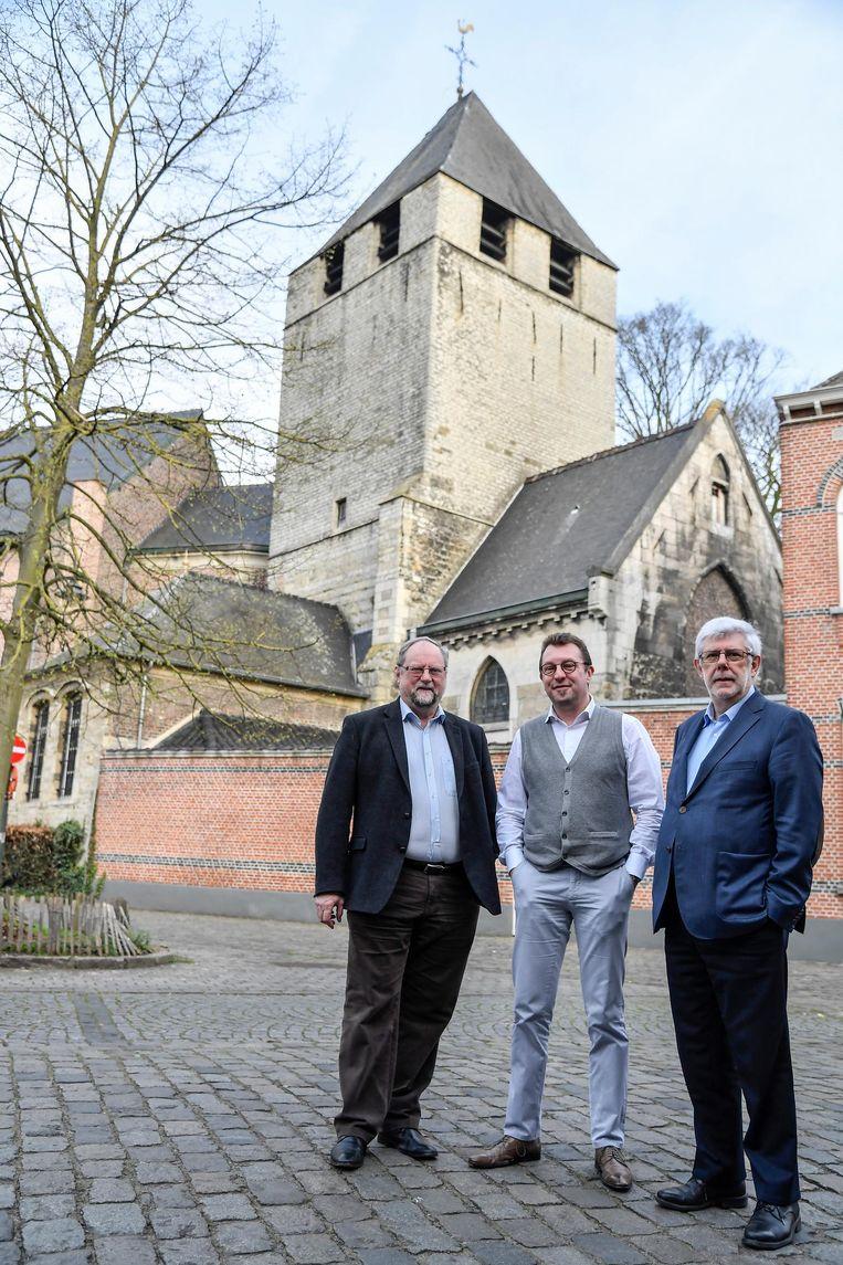 Walter Deygers (Werkgroep Kerkenplan), Jo Mattheys (deken), Etienne Van Hecke (Werkgroep Kerkenplan).