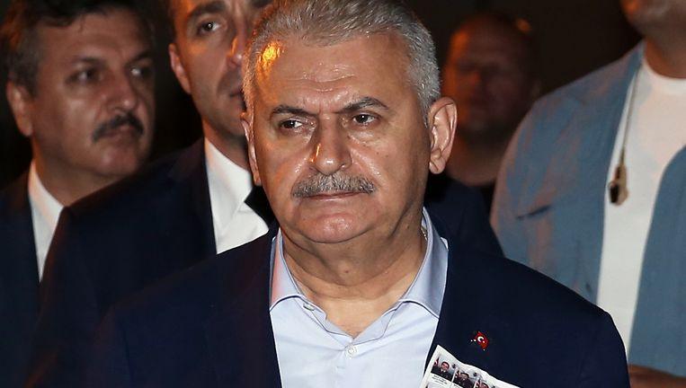 De Turkse premier Binali Yildirim