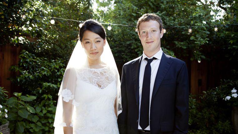 Het echtpaar Zuckerberg. Beeld ap