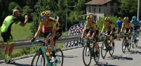 Antwan Tolhoek mist met Giro-winnaar in zijn wiel weer net plaats in de top 10