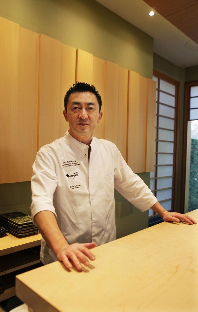 Chef Mansanori Tomikawa van restaurant Yamazato Beeld Jan Dirk van der Burg