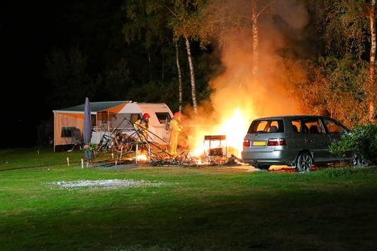 Een ouder echtpaar kwam om het leven bij de brand in Bladel.