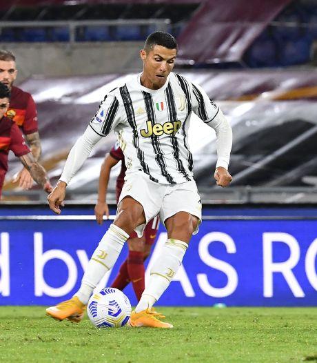 Ronaldo scoort twee keer in Rome, maar Juventus laat eerste punten liggen