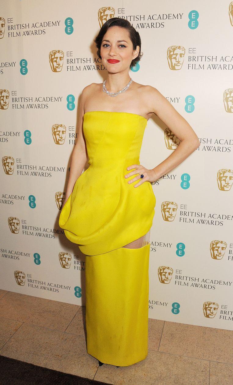 Marion Cotillardbij de EE British Academy Film Awards. Beeld Getty Images