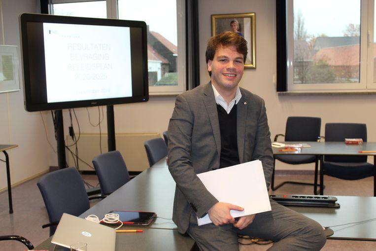 Burgemeester Pieter Claeys stelde de resultaten van de volksraadpleging voor.
