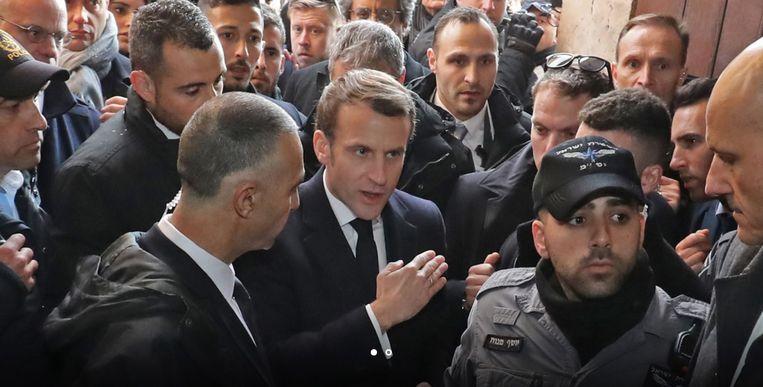 Emmanuel Macron verloor even zijn gebruikelijke 'cool'.
