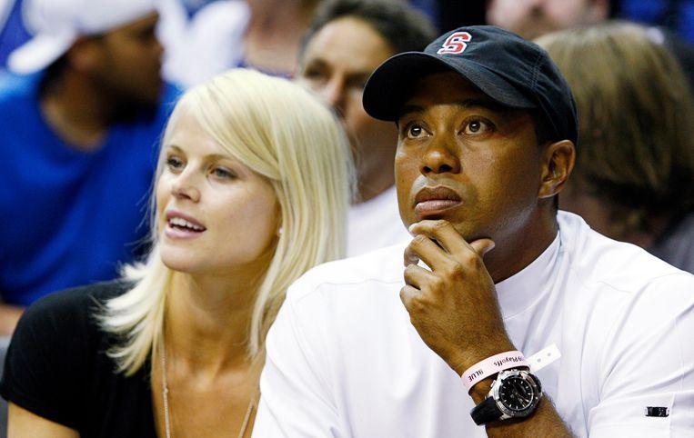 Elin Nordegren en Tiger Woods in betere tijden.
