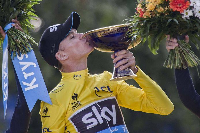 Chris Froome moet de Tour de France laten schieten en kan zich dus niet opmaken voor een nieuwe overwinning.