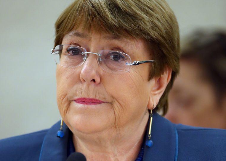 Volgens Hoge Commissaris voor de Mensenrechten Bachelet misbruiken sommige landen de bijzondere omstandigheden van de coronapandemie om burgerlijke vrijheden in te perken. Beeld Reuters