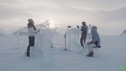 Greenpeace speelt ijsconcert op de Noordpool