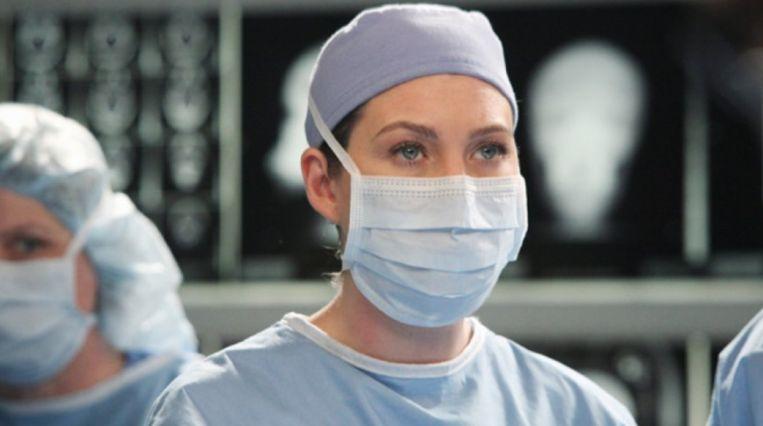 Ellen Pompeo in 'Grey's Anatomy'.