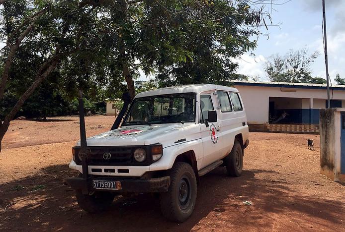 Foto Tom Hayes in Ivoorkust