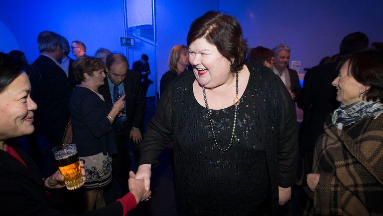 Maggie De Block op de nieuwjaarsreceptie van Open Vld.