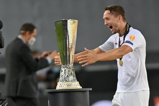 Luuk de Jong na winst van de Europa League.