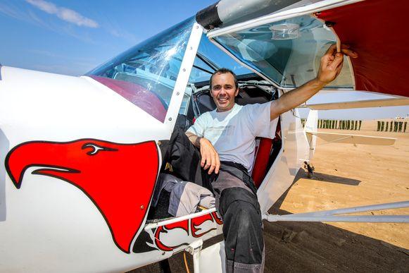 De Belgisch-Britse piloot Sam Rutherford (47) zat deze keer niet zelf achter de knuppel.