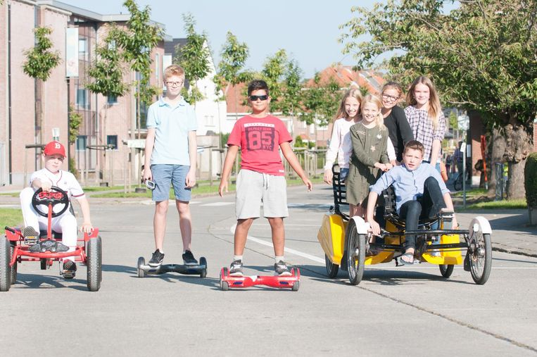 Geen auto's in de straten, wel go-carts en hoverboards.