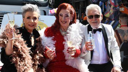IN BEELD. Koen Crucke, Johny Voners en Greet Rouffaer maken Antwerp Pride onveilig in flamboyante outfits