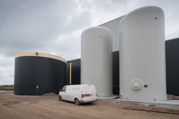 Een biogasinstallatie die bij Bemmel in gebruik is genomen.