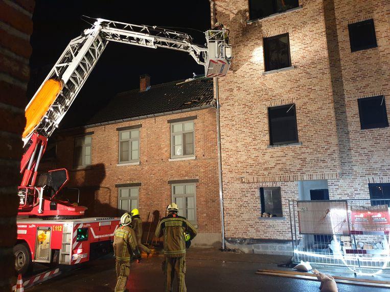 Een brandweerinterventie aan Elsum in Geel