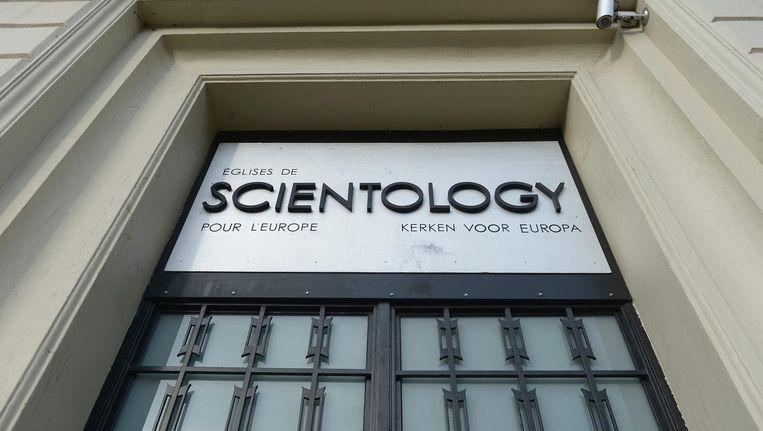 De deur van de Scientology Kerk in Brussel. Beeld Afp