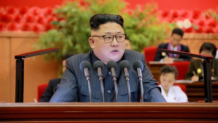 De Noord-Koreaanse leider Kim Jong-Un Beeld afp