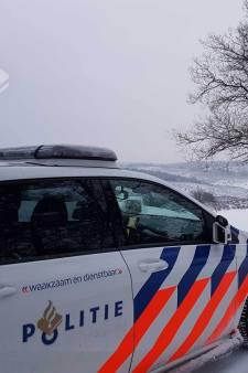 Posbank afgesloten voor voertuigen vanwege sneeuw