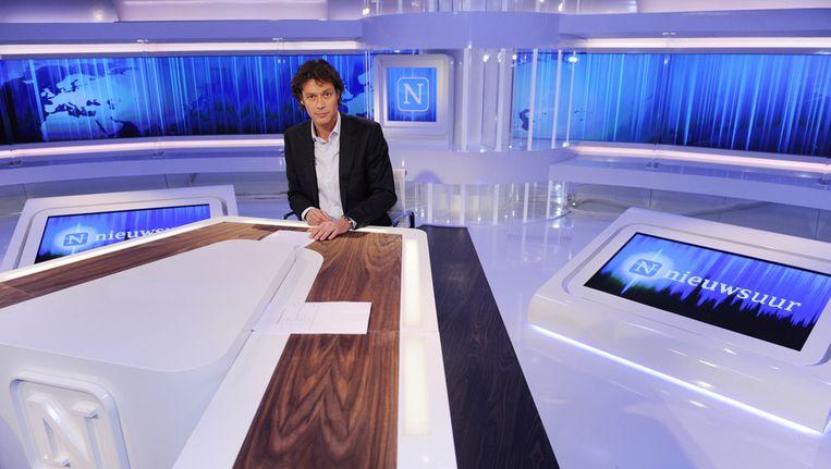 Joost Karhof in de studio van Nieuwsuur Beeld ANP