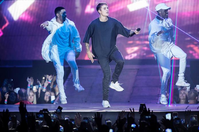 Justin Bieber tijdens een van zijn concerten. Foto: ANP/EPA