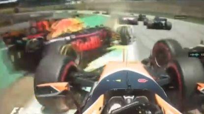 GP Brazilië wel heel snel voorbij voor Stoffel Vandoorne na crash bij de start, Vettel en Ferrari mogen juichen