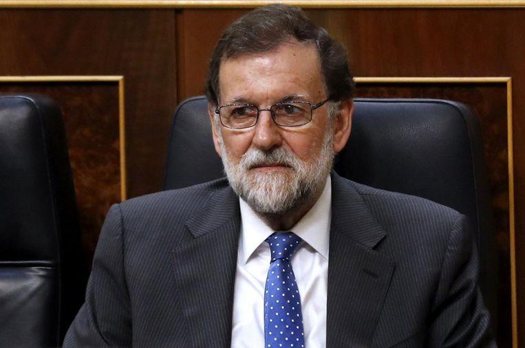 Mariano Rajoy zal voor het opgraven van de dictator dus toestemming moeten vragen aan de abt van de benedictijner abdij die de basiliek beheert, of aan paus Franciscus. Beeld ANP