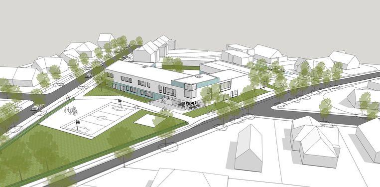 De site van de gemeenteschool tussen de Duinenlaan en Henri Jasparlaan zal er de komende jaren flink anders gaan uitzien.