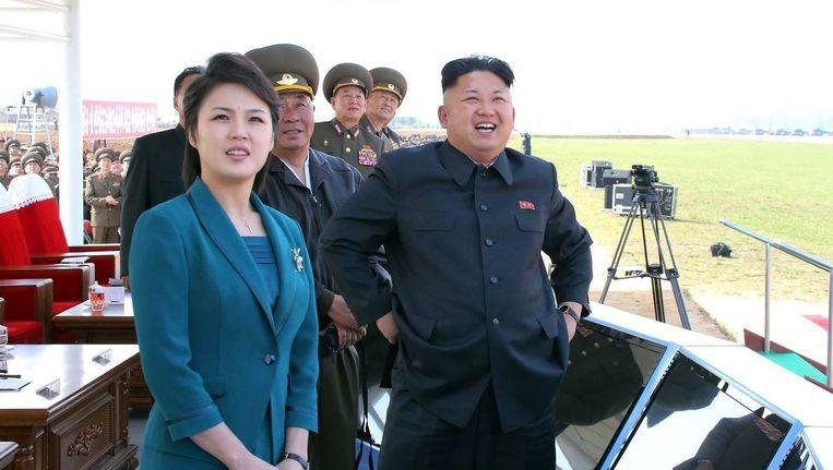 De Noord-Koreaanse leider Kim Jong-Un en zijn vrouw Ri Sol-Ju.