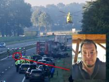Ruud uit Vierlingsbeek redde zwaargewonde Pool uit brandend wrak op A73: 'Hij schreeuwde van de pijn'