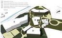 De deels achterhaalde bouwplannen naast het Antoniushuis en bij de oude pastorie in Moergestel. B en C zijn van de tekentafel verdwenen. Wolfs Architecten gaat twee urban villa's van vier lagen ervoor in de plaats tekenen.