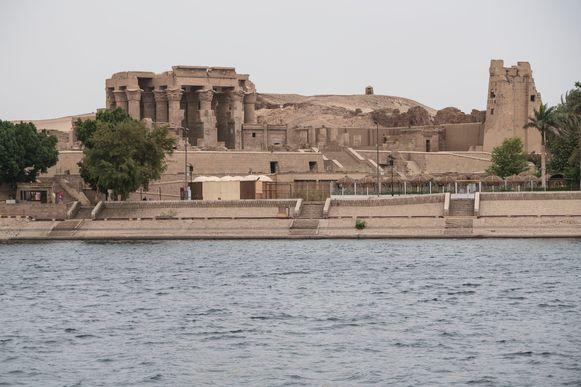 De tempel van Kom Ombo, gebouwd tijdens de Ptolemaeische dynastie langs de Nijl.