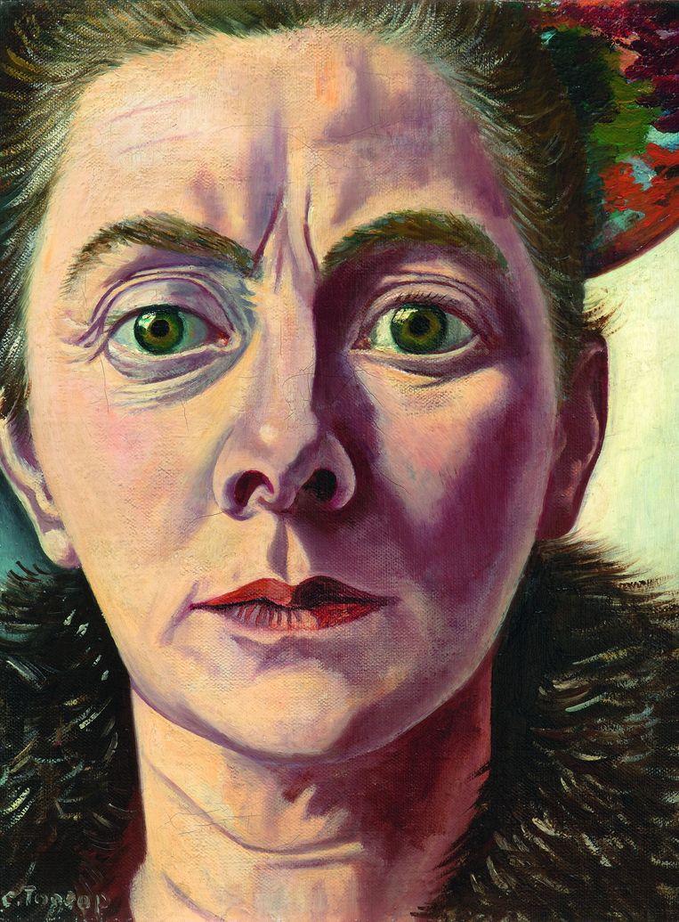Charley Toorop: Zelfportret met bontkraag (1940). Beeld Pictoright 2015