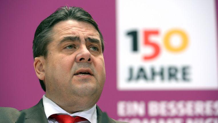 SPD-leider Sigmar Gabriel. Beeld epa